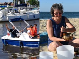 Balade en bateau électrique et voyage sonore sur la plage - Agenda Nature du Teich