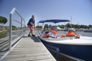 Promenade privatisée en bateau électrique - Agenda Nature Office de Tourisme Le Teich