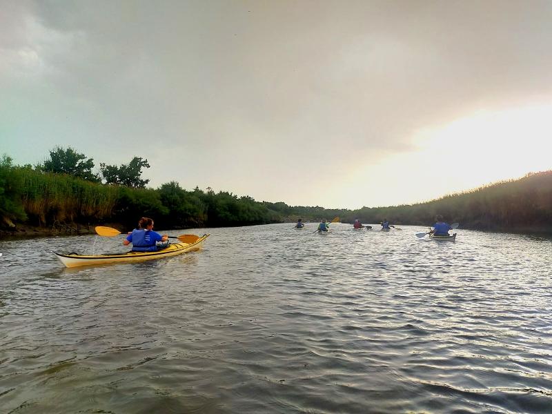 Sortie en kayak de mer jusqu'à la pointe du Teich - Agenda Sports et loisirs du Teich