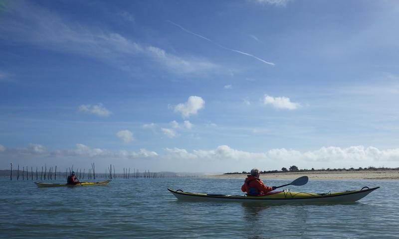 Sortie en kayak de mer jusqu'à la pointe du Teich accompagné d'un moniteur BE - Agenda Sports et loisirs du Teich
